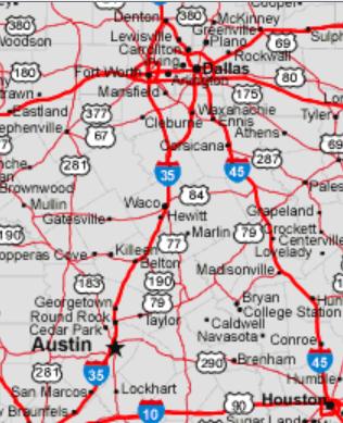 texas map i-35