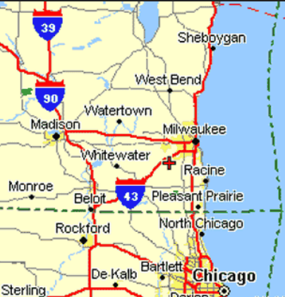 i-43 road map wisconsin